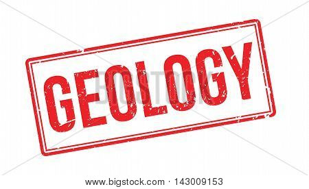 Geology Rubber Stamp