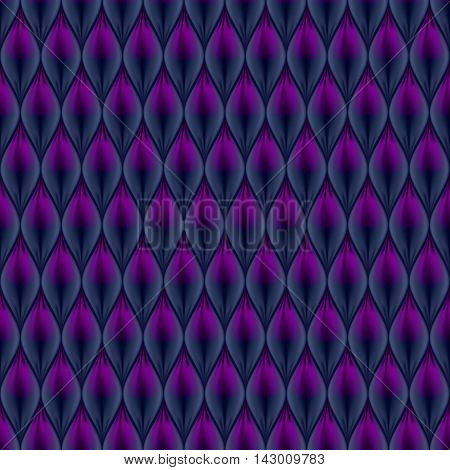 Quilted simple abstract seamless pattern. Black color colored with purple.