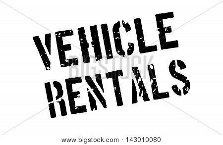 Vehicle Rentals Rubber Stamp