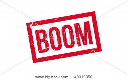 Boom Rubber Stamp
