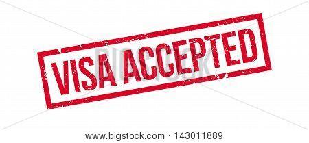 Visa Accepted Rubber Stamp