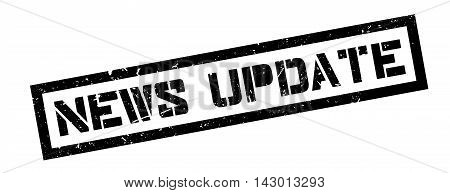 News Update Rubber Stamp