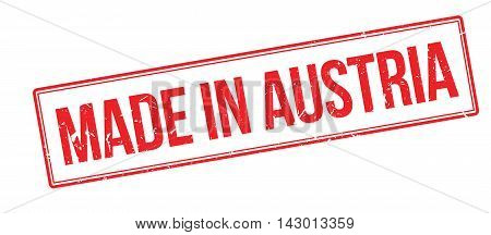 Made In Austria Rubber Stamp