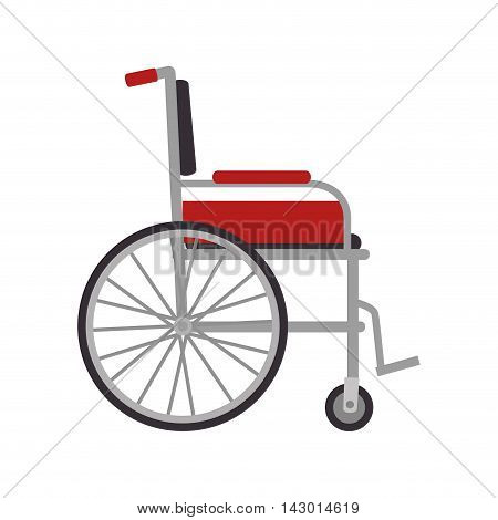 wheelchair medical tool disability invalid medicine person equipment vector illustration isolated