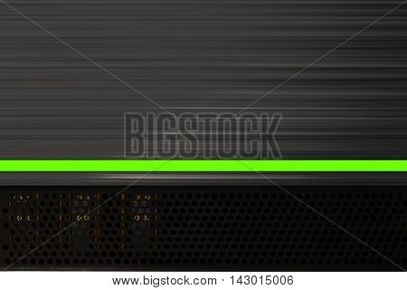 Lamp stereo amp music background. 3D illustration