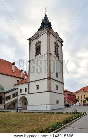 LEVOCA SLOVAKIA - AUGUST 18 2015: Town Hall in Levoca Town Slovakia.