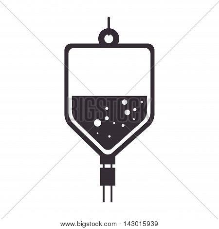 iv bag medicine hospital saline medical health vector illustration isolated