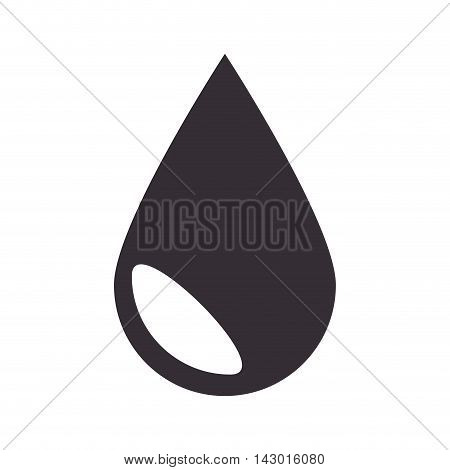 drop blood medicine silhouette human anatomy vector illustration isolated