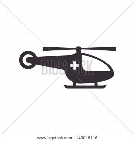 helicopter medical medicine ambulance vehicle emergency vector illustration isolated