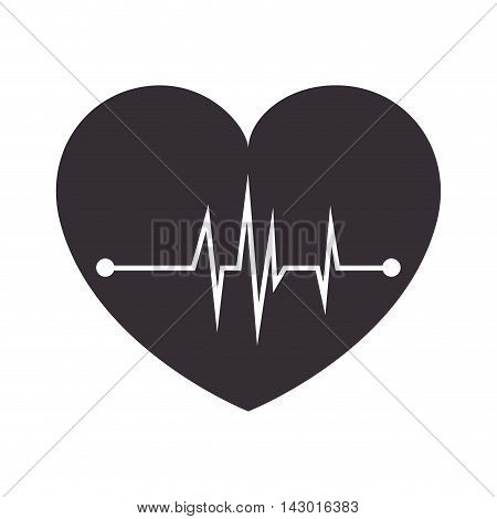 cardiology heart medicine symbol chart pulsating medic vector illustration isolated