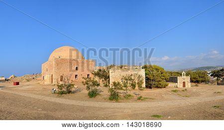 Rethymno city Greece Fortezza fortress Agios Nikolaos landmark architecture