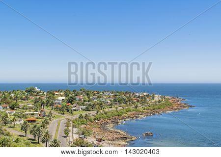Landscape Aerial View Punta Colorada Uruguay