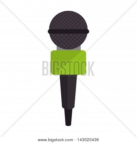 microphone news journalist media audio public press vector illustration isolated