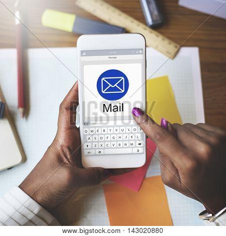 E-Mail Digital Application Webpage Concept