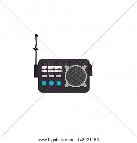 radio antenna retro old object sound station vector illustration isolated
