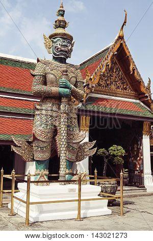 Demon Guardian Wat Phra Kaew Grand Palace Bangkok, Thailand