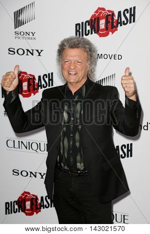 NEW YORK-AUG 3: Musician Joe Vitale attends the 'Ricki And The Flash' New York premiere at AMC Lincoln Square Theater on August 3, 2015 in New York City.