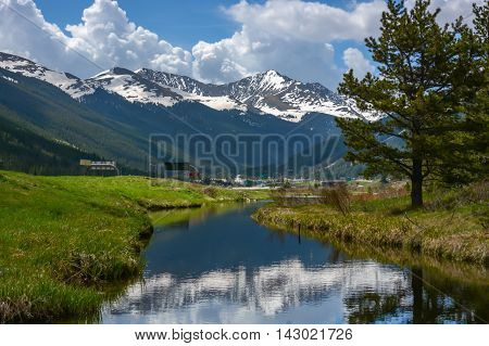 This is a photo of the Rocky Mountains near Copper Mountain in Colorado.