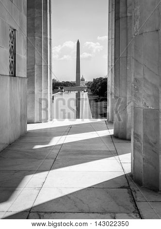 Washington Monument  from the Lincoln Memorial, Washington DC