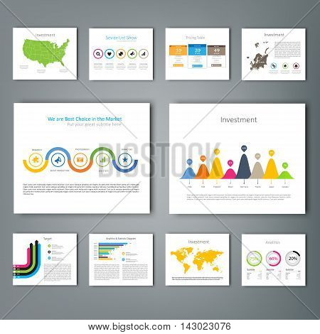 Collection of infographic Template , Infographic Element , Business infographic , Layout design , Modern Style , Vector design illustration. For your next project.