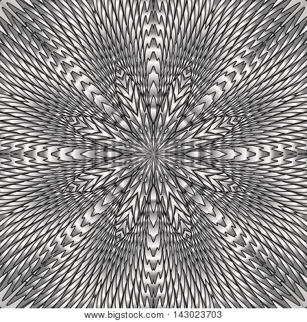 Kaleidoscopic silver pattern. The image is computer graphics created using various programs.