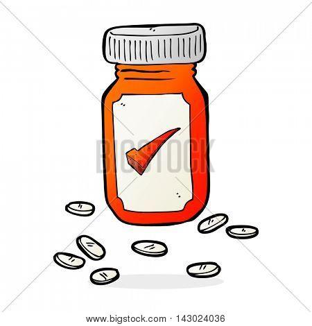 cartoon medical jar of pills