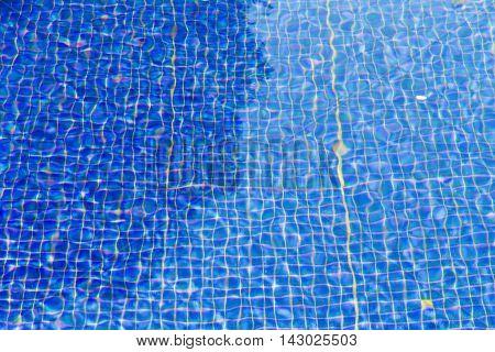 Blue Ripple Water In Swimming Pool