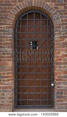 Old Wrought Door Trellis At The Entrance To The Castle