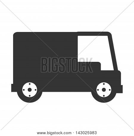 truck cargo delivery transport industry shipment vehicle transporter vector ilustration isolated