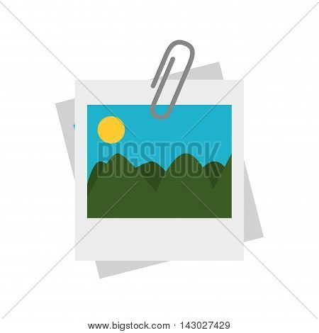 picture photograph landscape panorama mountains sun vector illustration isolated