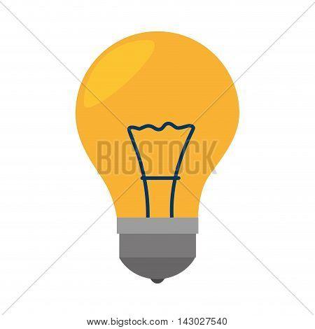 bulb light electricity idea illumination power bright think vector illustration isolated