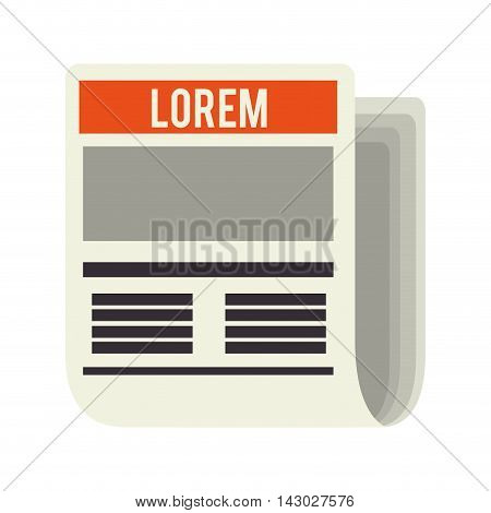 newspaper paper news tabloid document journalism document vector illustration isolated