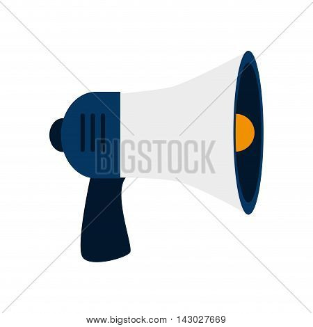 megaphone speak device loud announcement broadcast symbol vector illustration isolated