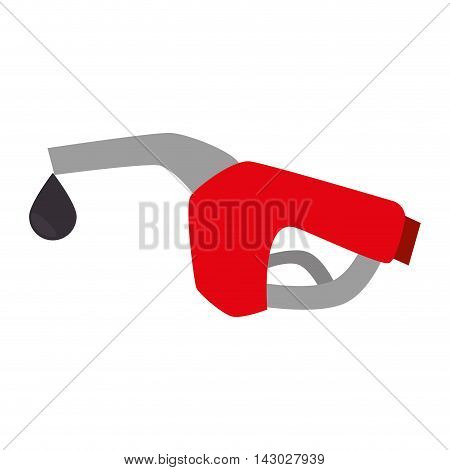 nozzle gas station service diesel gasoline automobile vehicle vector illustration isolated