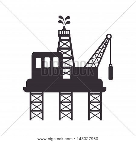 plant chemistry tower pipe engineering distillery factory structure industry vector illustration isolated