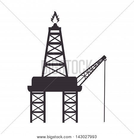tower flame industry petroleum refinery fire fuel vector illustration isolated