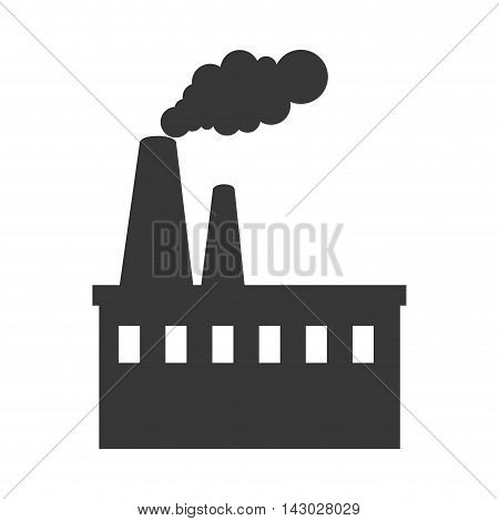 factory industry building steam chimney tower production vector illustration isolated