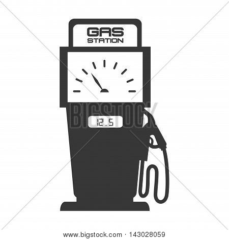 gas pump station nozzle car vehicle industrial fuel auto vector illustration isolated