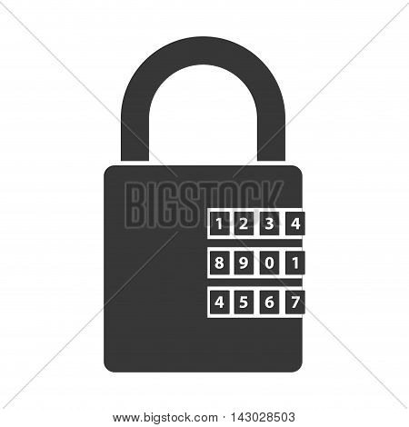 lock security safety safeguard object closed vector illustration isolated