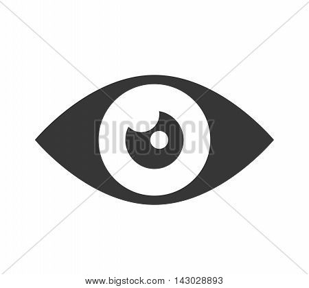 eye look vision human see view watch vector illustration isolated
