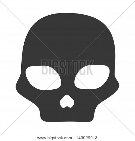skull caution danger symbol warning toxic vector illustration isolated