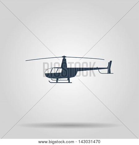 Helicopter icon. Vector concept illustration for design.