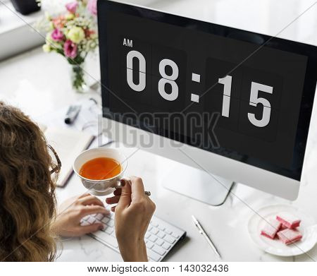 Time Appointment Schedule Punctual Graphic Concept