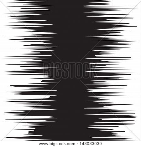 Comic book black and white radial lines background Manga graphic speed frame Superhero action Explosion vector illustration Square fight stamp Sun ray Star burst Ink texture