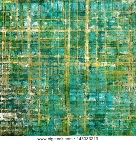 Abstract scratched background or frame with weathered grunge texture. Ancient style backdrop with different color patterns: yellow (beige); green; blue; gray; white; cyan
