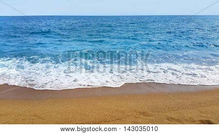 Beautiful panoramic seascape on a sunny day