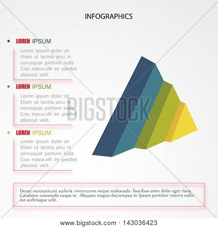 3d modern infographic option template colorful .Vector. Can be used for workflow layout, banner, diagram, number options, web design