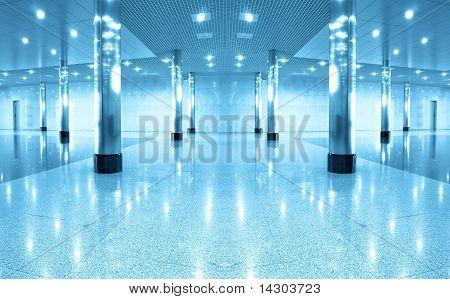 Symmetric Modern Hall Inside Office Center