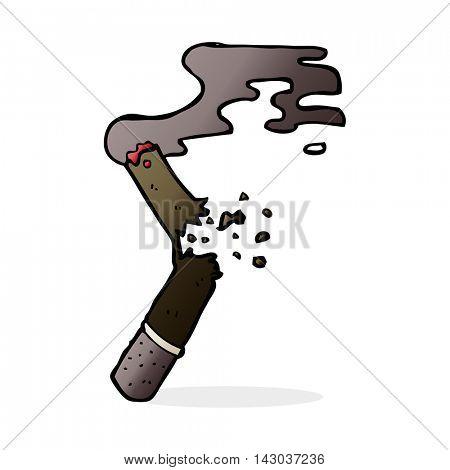 cartoon broken cigar