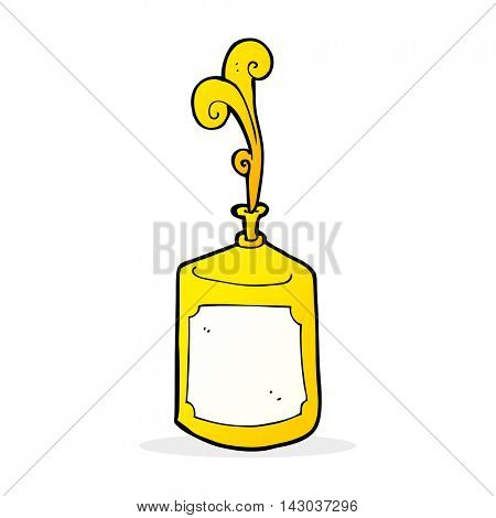 cartoon squirting mustard bottle